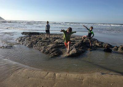 Beach games at Polzeath