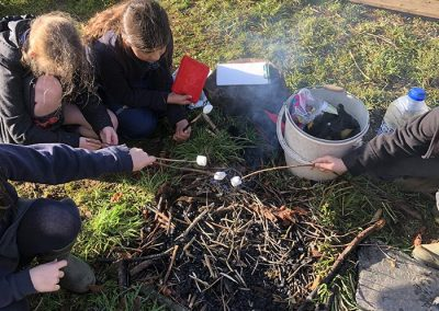 Forest school cooking