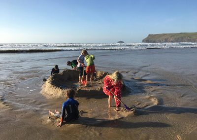 Tide wars on Polzeath beach